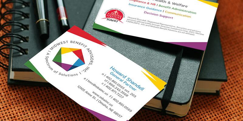 print design omaha, business card design