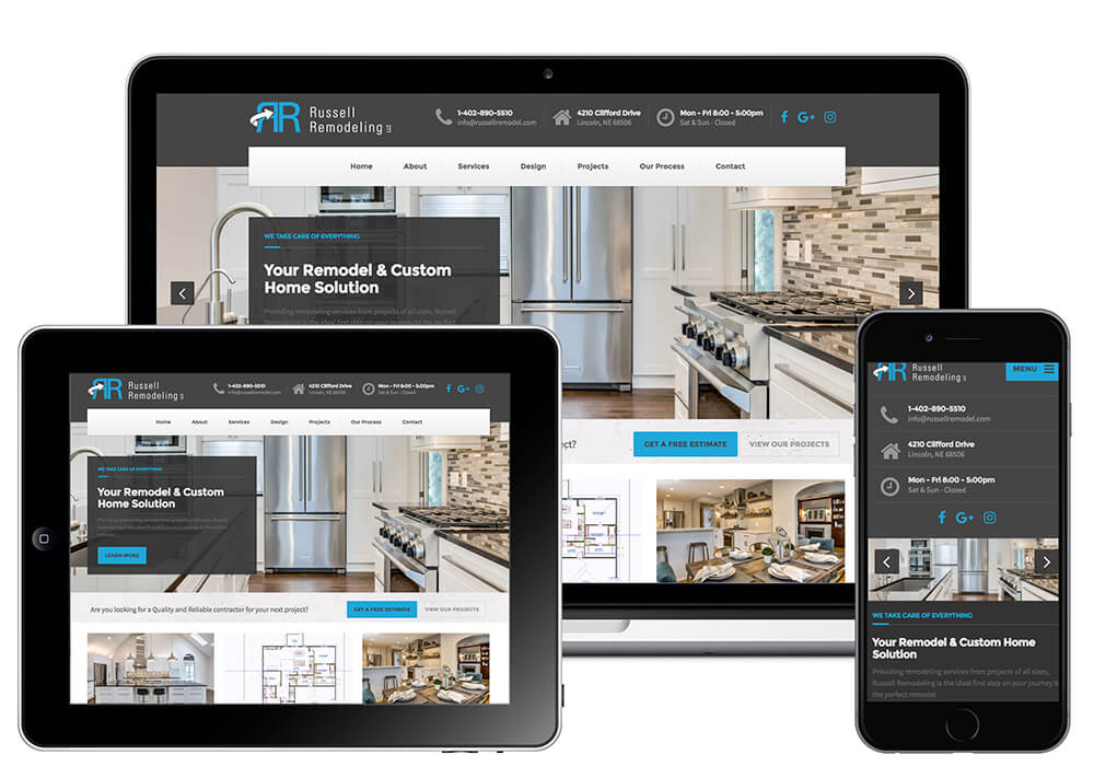 responsive web design for general contractor