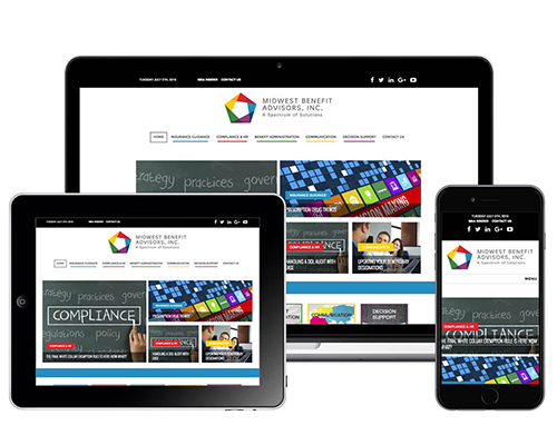 Midwest Benefit Advisors, Responsive Web Design