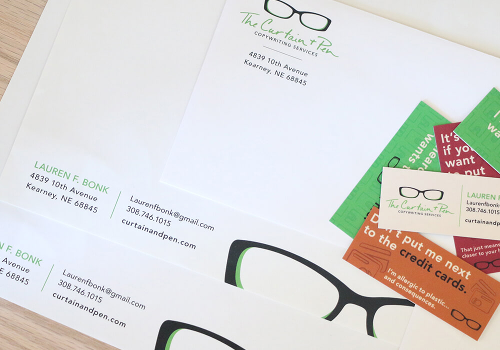 business stationary design, omaha print design