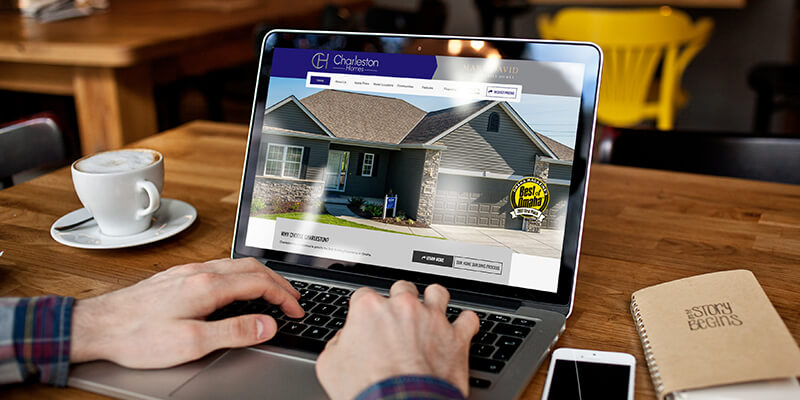 Charleston Homes Website Redesign