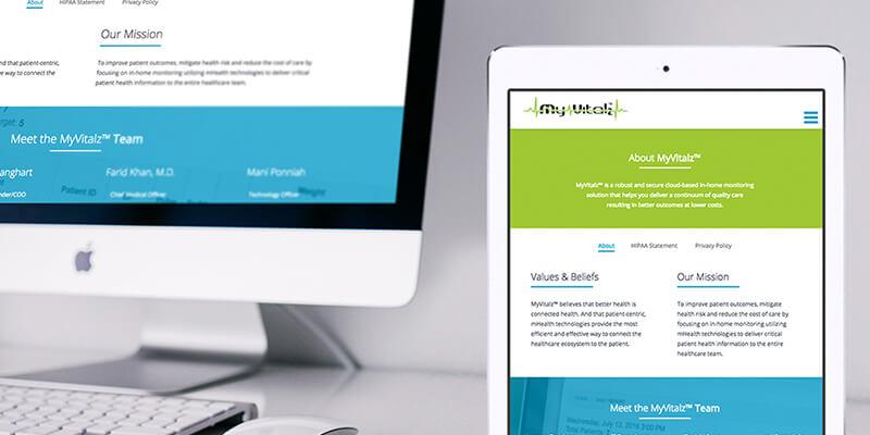 web design for desktop and tablet