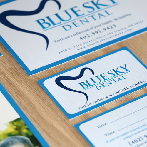 business card for dentistry office