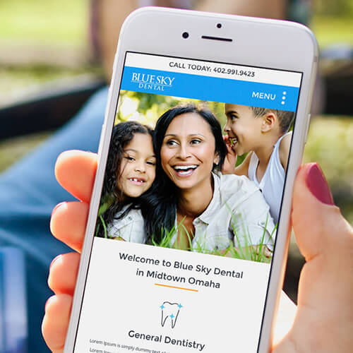 website design for dentistry office in Omaha, NE