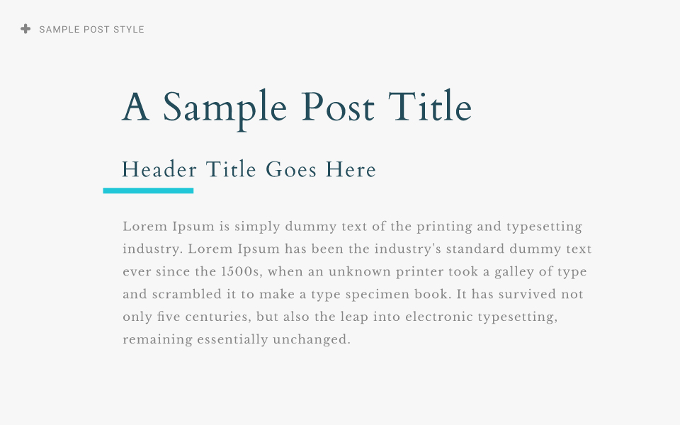sample post type