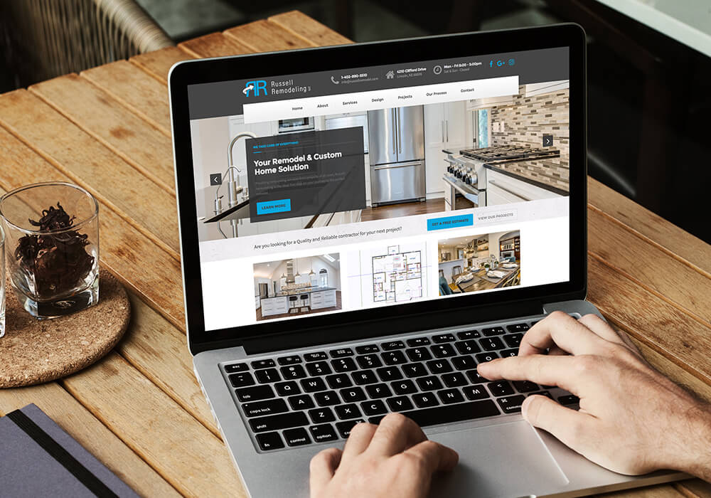 website design for Lincoln general contractor