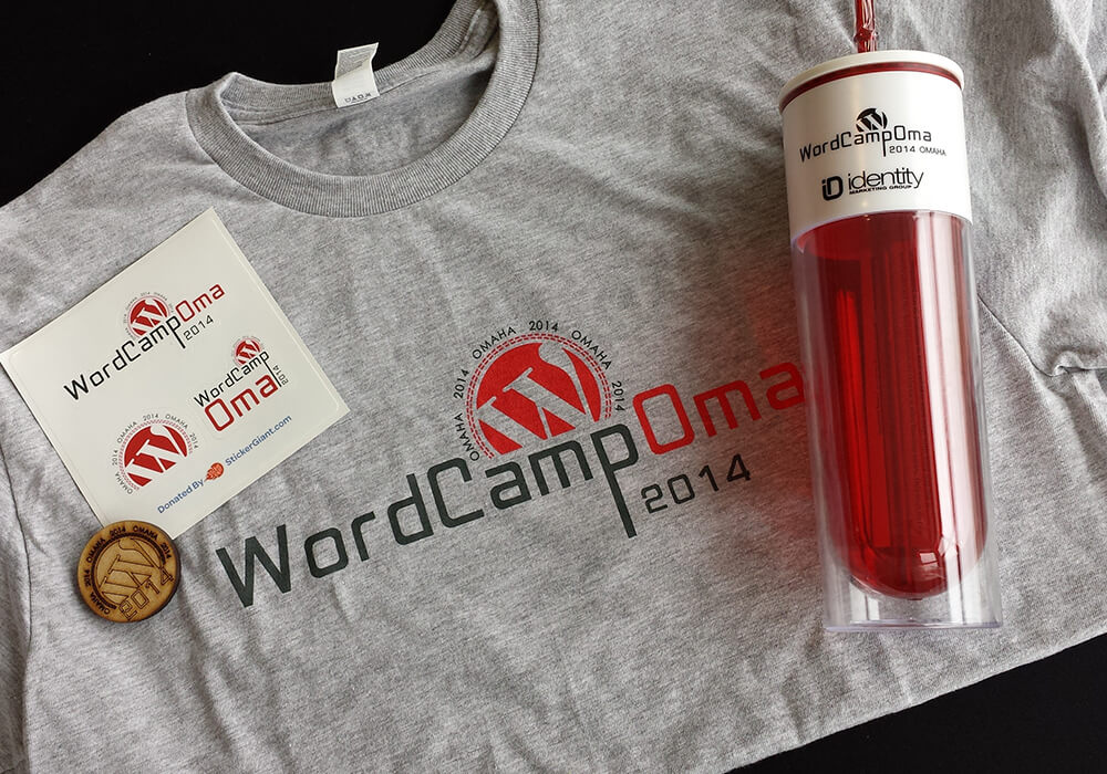 wordcamp Omaha promotional materials
