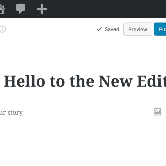 Meet the new Gutenberg editor for WordPress