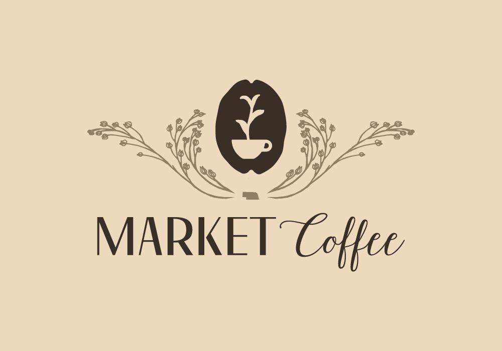 market coffee logo design