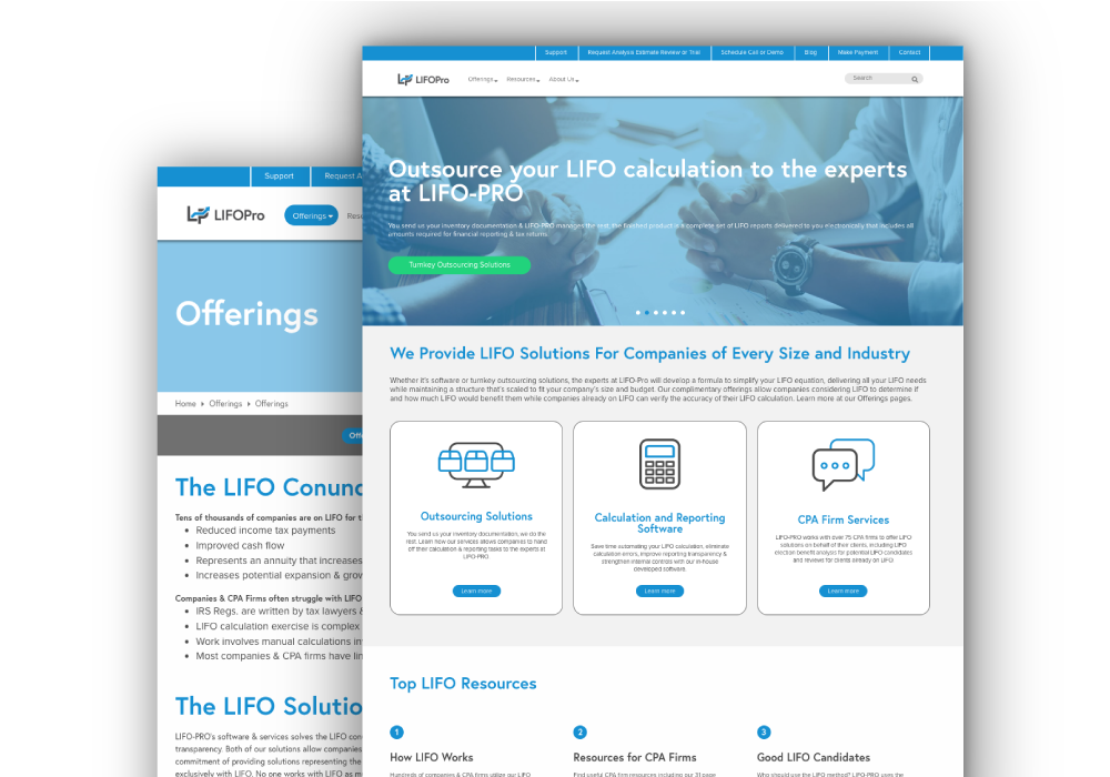 web design for accounting software